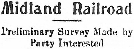 Alaska Midland Railroad, Preliminary Survey